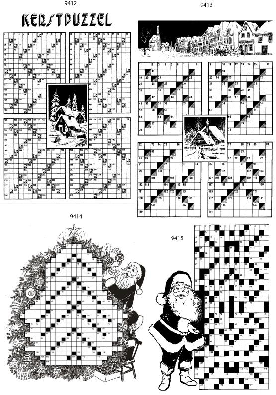 Een overzicht van de beschikbare kerstpuzzels