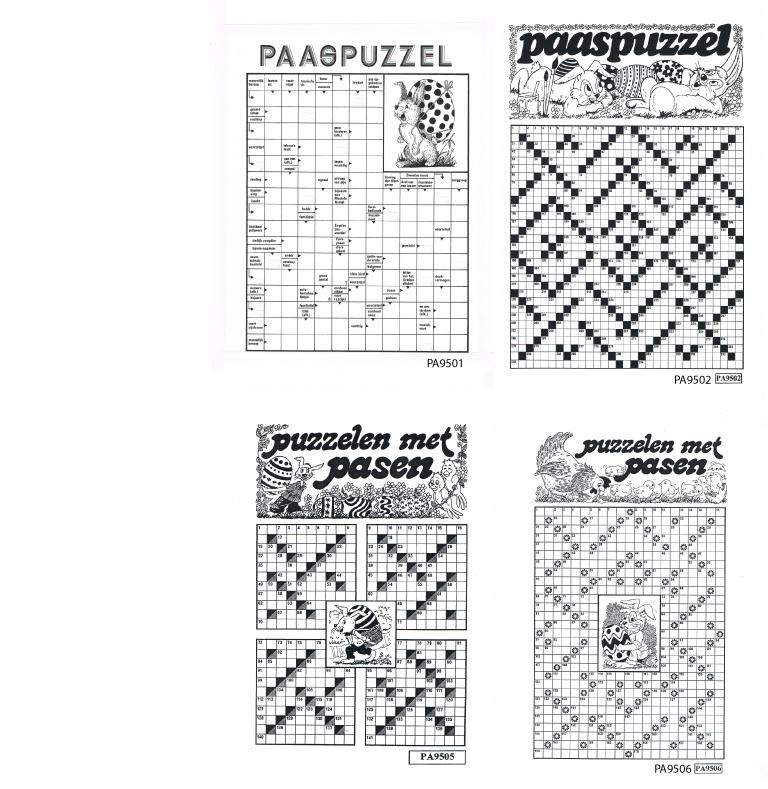 Overzicht van de beschikbare paaspuzzels